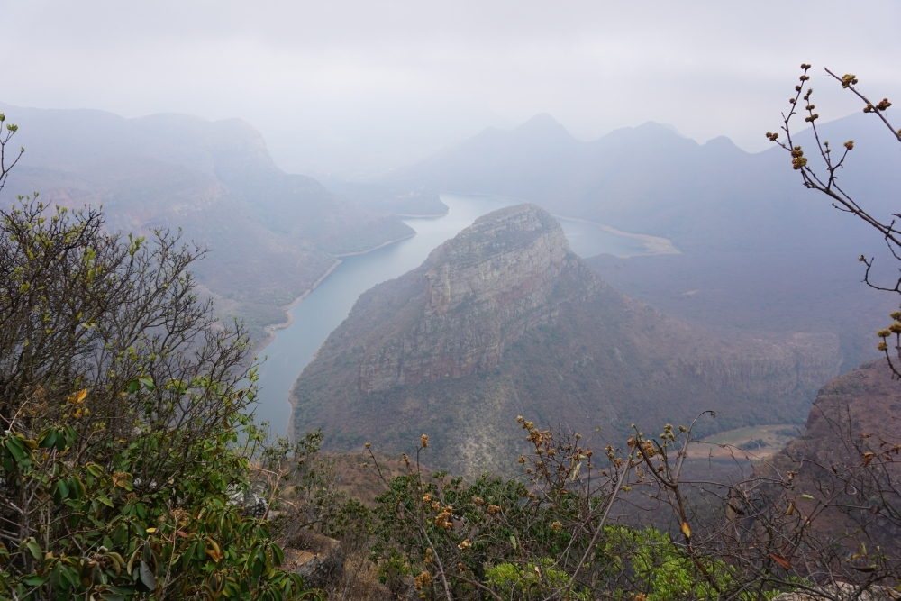 Blyde River Canyon im Nebel
